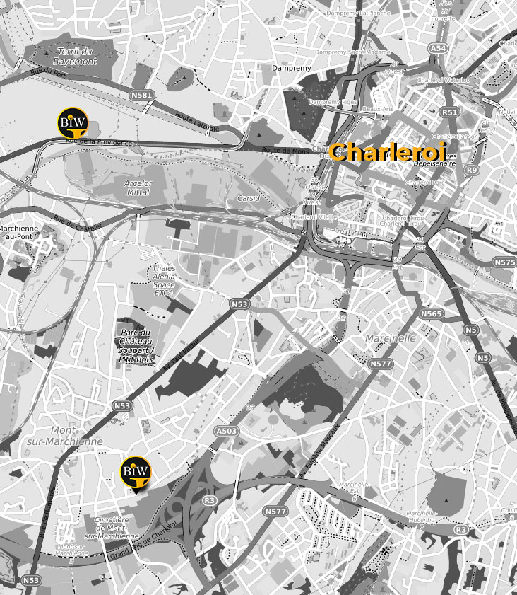 carte google map - Agence Web Charleroi - BIW Agency