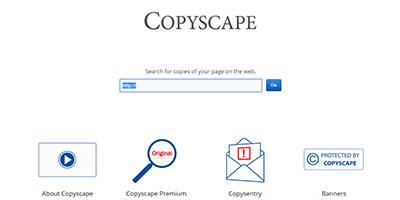 Copyscape: Trouver du contenu en dupliqué sur d'autres sites